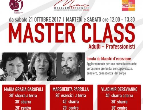 MASTER CLASS PER ADULTI PROFESSIONISTI